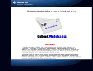webmail.allergan.com screenshot