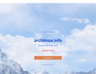 webmail.archlinux.info screenshot