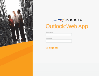 webmail.arris.com screenshot