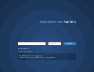 webmail.babumoshay.com screenshot