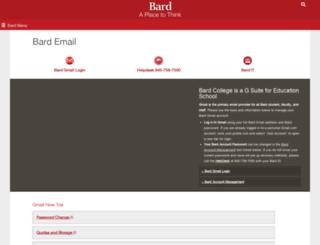 webmail.bard.edu screenshot