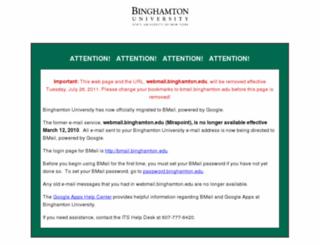 webmail.binghamton.edu screenshot