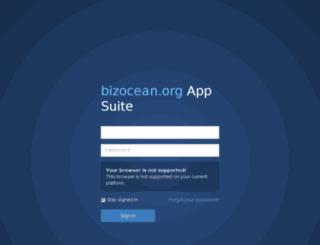 webmail.bizocean.org screenshot
