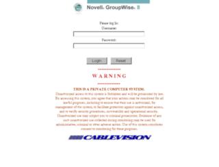webmail.cablevision.com screenshot
