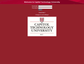 webmail.capitol-college.edu screenshot