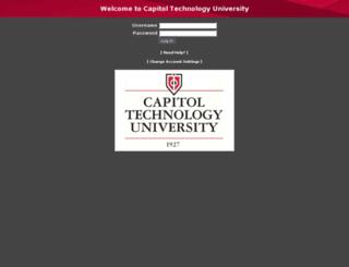 webmail.captechu.edu screenshot