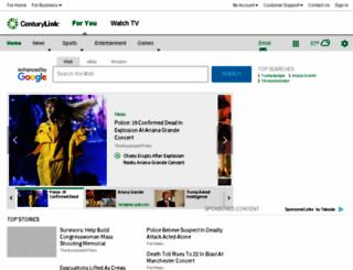 webmail.centurytel.net screenshot