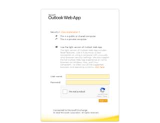 webmail.curie.fr screenshot