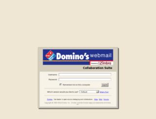 webmail.dominos.com.my screenshot