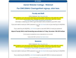 webmail.dwc.edu screenshot