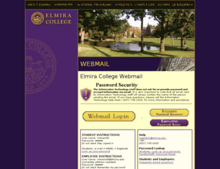 webmail.elmira.edu screenshot