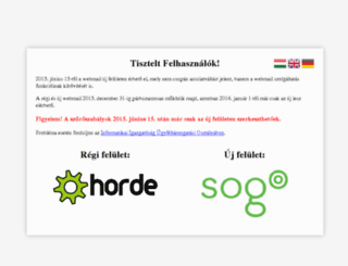webmail.elte.hu screenshot