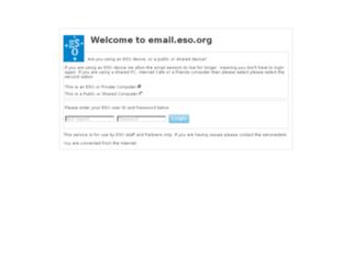 webmail.eso.org screenshot