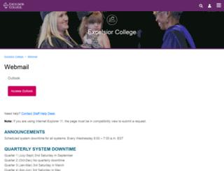 webmail.excelsior.edu screenshot