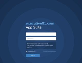 webmail.executive81.com screenshot