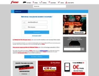 webmail.free.fr screenshot