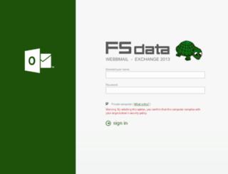 webmail.fsdata.se screenshot