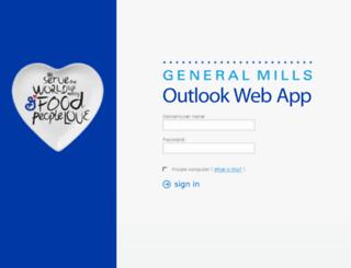 webmail.genmills.com screenshot