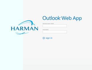 webmail.harman.com screenshot