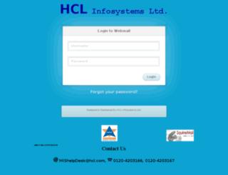 webmail.hclinsys.com screenshot