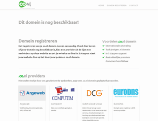 webmail.homecall.co.nl screenshot