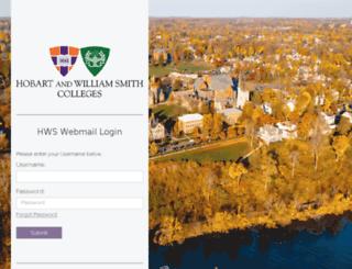 webmail.hws.edu screenshot