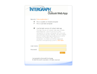 webmail.intergraph.com screenshot
