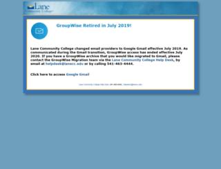 webmail.lanecc.edu screenshot
