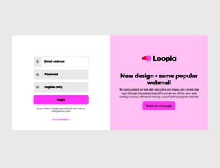webmail.loopia.com screenshot