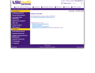 webmail.lsuhsc.edu screenshot