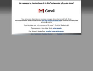 webmail.map.ma screenshot