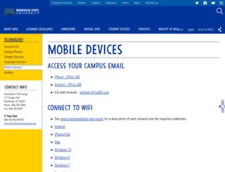 webmail.moreheadstate.edu screenshot