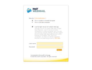 webmail.nestgroup.net screenshot
