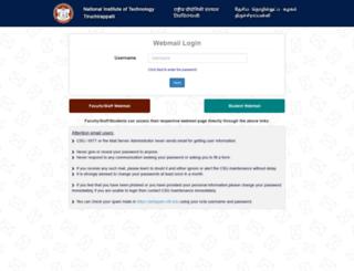 webmail.nitt.edu screenshot