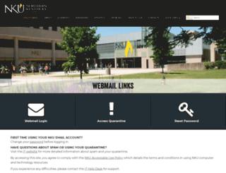webmail.nku.edu screenshot