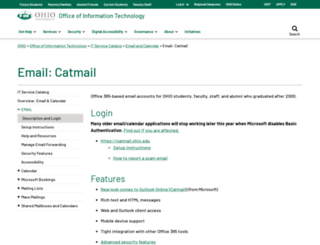 webmail.ohio.edu screenshot
