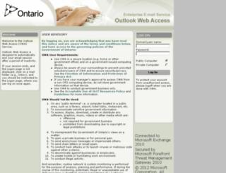 webmail.ontario.ca screenshot