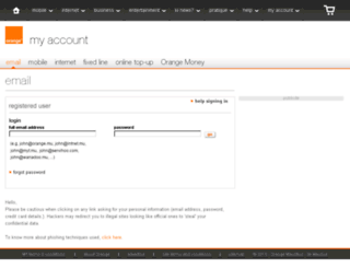 webmail.orange.mu screenshot