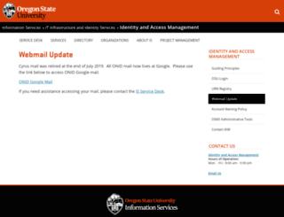 webmail.oregonstate.edu screenshot