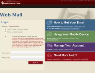 webmail.ouhsc.edu screenshot
