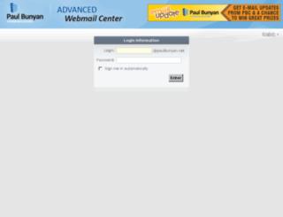 webmail.paulbunyan.net screenshot