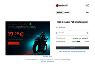 webmail.pec.it screenshot