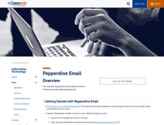 webmail.pepperdine.edu screenshot