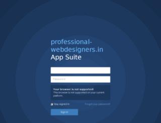 webmail.professional-webdesigners.in screenshot