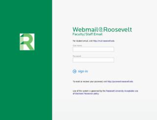 webmail.roosevelt.edu screenshot