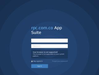 webmail.rpc.com.co screenshot