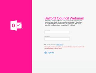 webmail.salford.gov.uk screenshot