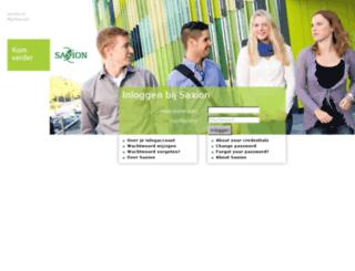 webmail.saxion.nl screenshot