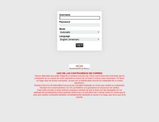 webmail.sevilla.org screenshot