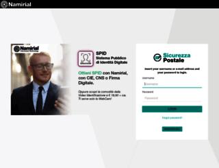 webmail.sicurezzapostale.it screenshot